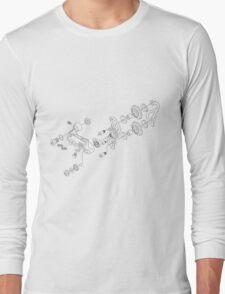 Exploded derailleur Long Sleeve T-Shirt