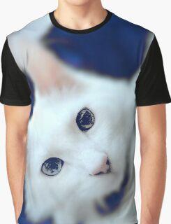 Blue smokey cat Graphic T-Shirt