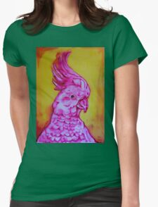 Cocky with Yellow Womens Fitted T-Shirt