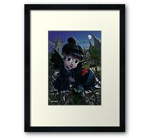 Goth girl fairy with spider widow Framed Print