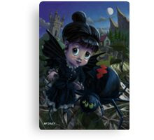 Goth girl fairy with spider widow Canvas Print