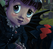 Goth girl fairy with spider widow Sticker