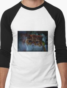 fancy derpcat Men's Baseball ¾ T-Shirt