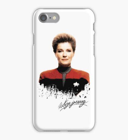 Star Trek Splatter Portrait - Janeway iPhone Case/Skin
