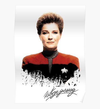 Star Trek Splatter Portrait - Janeway Poster