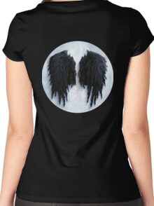 Aion black wings Women's Fitted Scoop T-Shirt