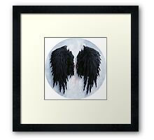 Aion black wings Framed Print