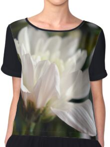 White flower macro. Chiffon Top