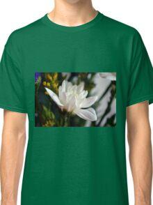 White flower macro. Classic T-Shirt