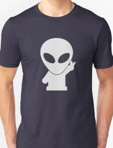 Space Alien Tees Cartoon Mascot  Unisex T-Shirt