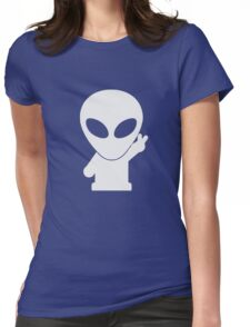 Space Alien Tees Cartoon Mascot  Womens Fitted T-Shirt