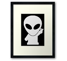 Space Alien Tees Cartoon Mascot  Framed Print