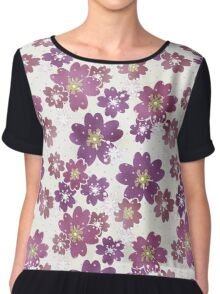 Seamless floral pattern flowers print background Chiffon Top