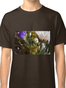 Natural background with flowers and green leaves. Classic T-Shirt