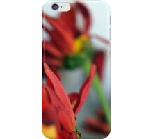 Natural composition with red petals. iPhone Case/Skin