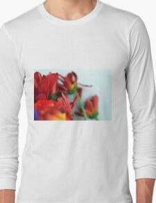 Natural composition with red petals. Long Sleeve T-Shirt