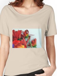 Natural composition with red petals. Women's Relaxed Fit T-Shirt