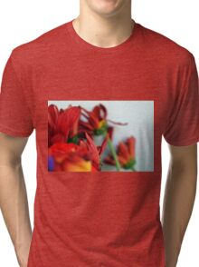 Natural composition with red petals. Tri-blend T-Shirt