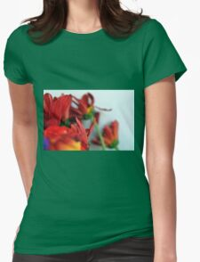 Natural composition with red petals. Womens Fitted T-Shirt