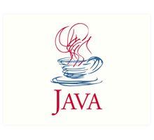 java classic programming language sticker Art Print