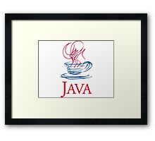 java classic programming language sticker Framed Print