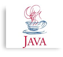 java classic programming language sticker Metal Print
