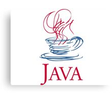 java classic programming language sticker Canvas Print