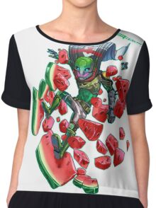 Watermelon SMASH Women's Chiffon Top