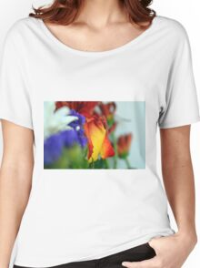 Close up on flower petals. Women's Relaxed Fit T-Shirt