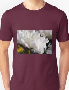 White flower macro. Unisex T-Shirt