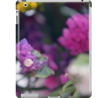 Watercolor style painted colorful flowers. iPad Case/Skin