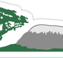 Mt Kilimanjaro Africa safari tree savannah wildern Sticker