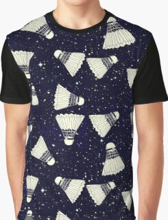 Space Shuttlecock Graphic T-Shirt