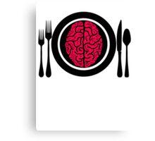 Brains for Dinner 2 Canvas Print