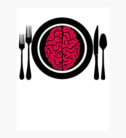 Brains for Dinner 2 Photographic Print