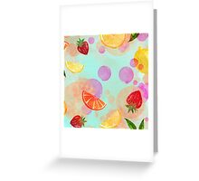 Fruit boom! Greeting Card