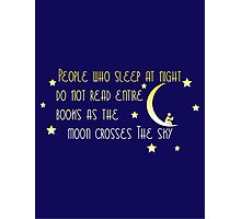 Book Induced Insomnia  Photographic Print