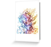 Spider and Snowflake Dance Greeting Card