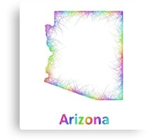 Rainbow Arizona map Canvas Print