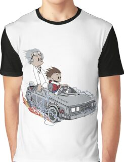 Calvin and Hobbes Back Future Graphic T-Shirt