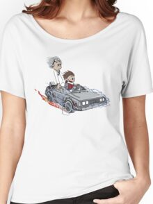 Calvin and Hobbes Back Future Women's Relaxed Fit T-Shirt