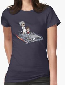 Calvin and Hobbes Back Future Womens Fitted T-Shirt