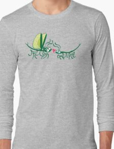 Stick insects shyly falling in love Long Sleeve T-Shirt