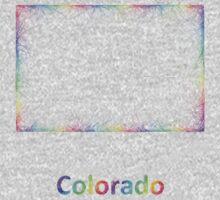 Rainbow Colorado map Kids Tee