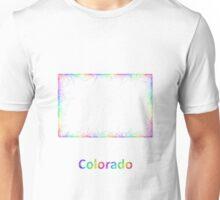 Rainbow Colorado map Unisex T-Shirt