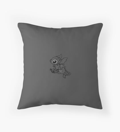 "Toothless ""Stitch"" Sitting Throw Pillow"