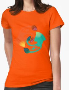 Squid Squad - Green vs Orange Womens Fitted T-Shirt
