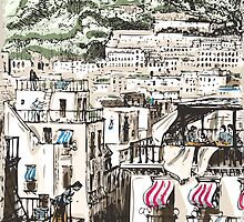 View of Naples by aurielaki