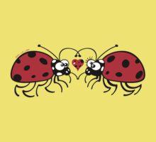 Ladybugs tenderly falling in love Kids Tee
