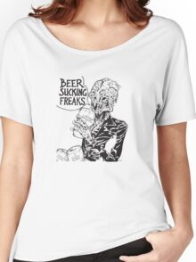 Beer Sucking Freaks (black) Women's Relaxed Fit T-Shirt